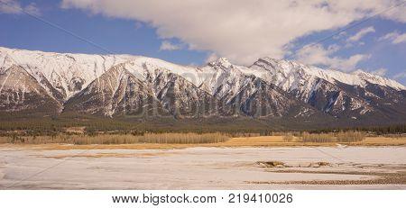 Mountain Landscape near Abraham Lake Alberta Canada