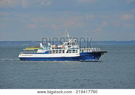 Old motorboat in Black sea Odessa Ukraine
