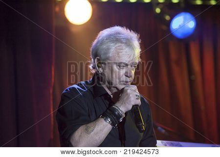 NEW YORK NEW YORK USA - OCTOBER 13: Russell Hitchcock of Air Supply performs at B.B. Kings blues club and grill. Taken October 13 2017 in New York.