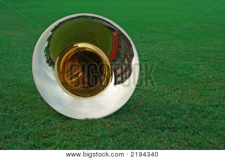 Tuba Lying On The Grass