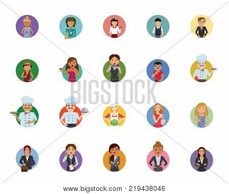 People icon set. Can be used for topics like occupation, citizen, inhabitant, job poster