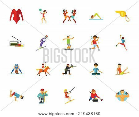 Sport icon set.Can be used for topics like activity, competition, training, contest