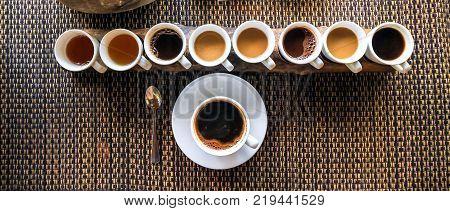 Luwak Coffee and Tea testing in Bali.  Luwak Coffee is the most expensive coffee in the world