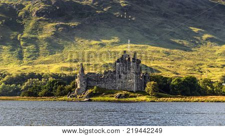 Ruin of Kilchurn Castle  at the northeastern end of Loch Awe, in Argyll and Bute, Scotland