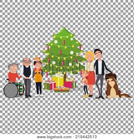 Stock Vector Familia Feliz Ilustración De Dibujos Animados Images