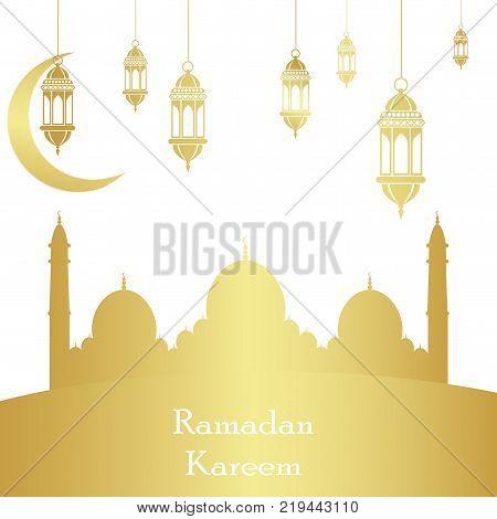 Ramadan Kareem Islamic background. Ramadan holiday. Vector illustration.