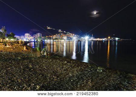 Night Landscape Of Budva