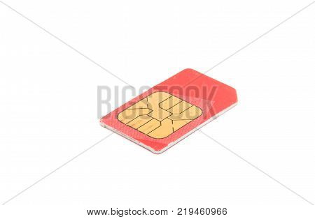 sim card gsm isolated on white background