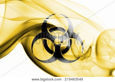 Biohazard smoke sign  isolated on a white background