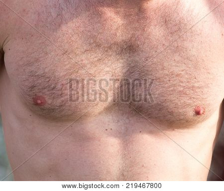 men inflated chest as background . Photo of an abstract texture