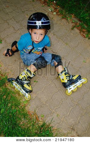 The Boy Fell Roller Skates