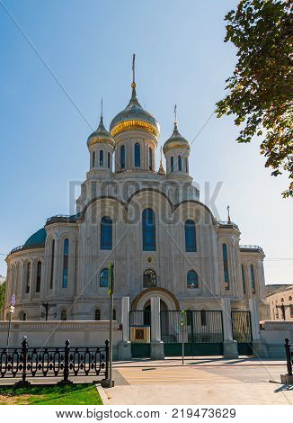 Moscow, Russia - August 31. 2017. Church in honor of Resurrection of a Christ