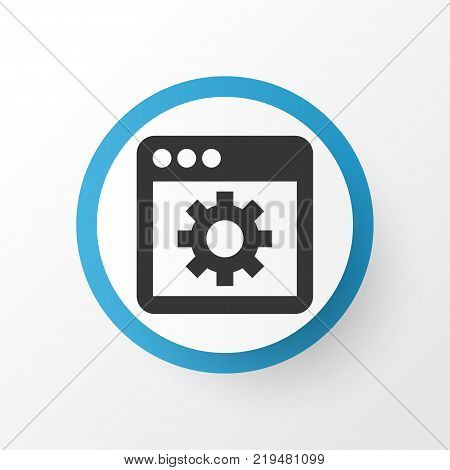 Application icon symbol. Premium quality isolated tab element in trendy style.
