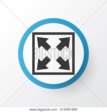 Widen icon symbol. Premium quality isolated enlarge element in trendy style.