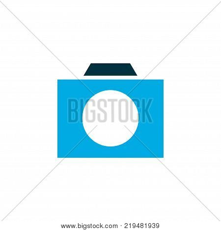 Photographing icon colored symbol. Premium quality isolated photo apparatus element in trendy style.