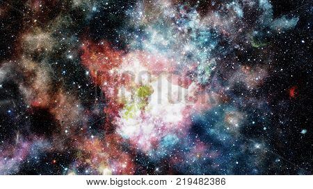 Stars and galaxy space. Night sky background. Elements of this image furnished by NASA.