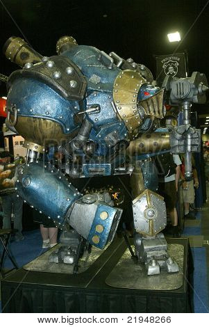 SAN DIEGO, CA - JULY 20: An unidentified giant robot is on display during preview night at the 2011 Annual Comic Con International convention on July 20, 2011 in San Diego, CA