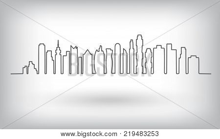 City skyline vector illustration. Urban background. City landscape