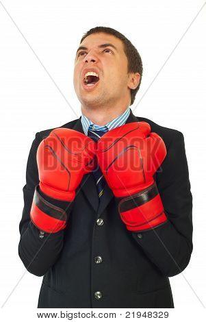 Upset Businessman Shouting