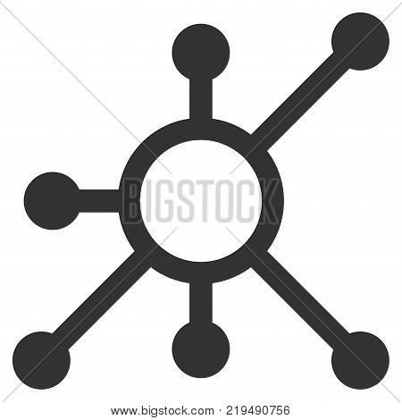 Network Node flat vector icon. An isolated illustration on a white background.