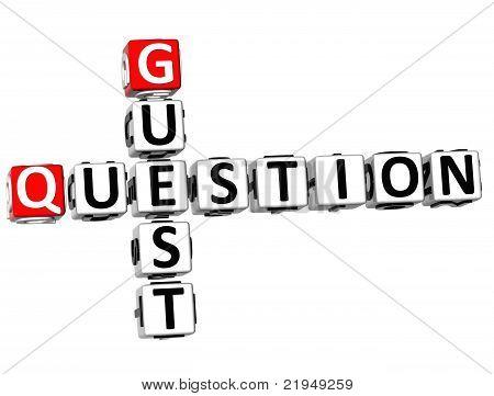 3D Question Guest Crossword