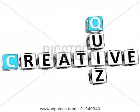 3D Creative Quiz Crossword