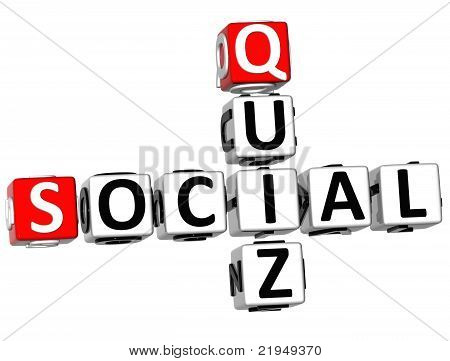 3D Social Quiz Crossword