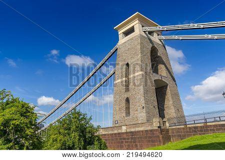 Closeup of Detail of Clifton Suspension Bridge, Bristol