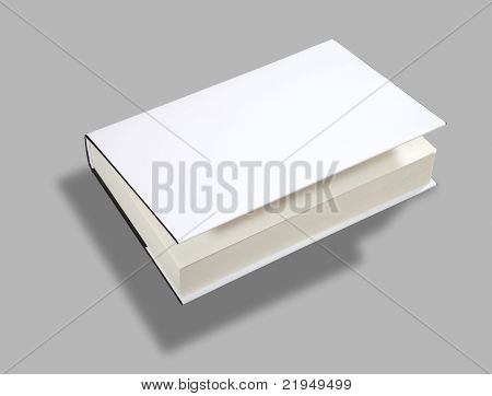 Blank Book Open Cover W Clipping Path
