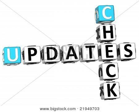 3D Check Updates Crossword