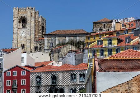 The Lisbon Cathedral In Lisbon, Portugal.