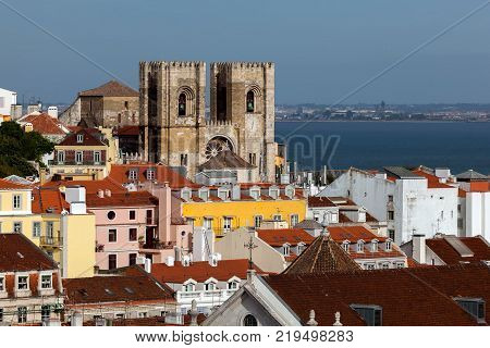 The Lisbon Cathedral in Lisbon Portugal originated in the 12th century classified as a National Monument since 1910.
