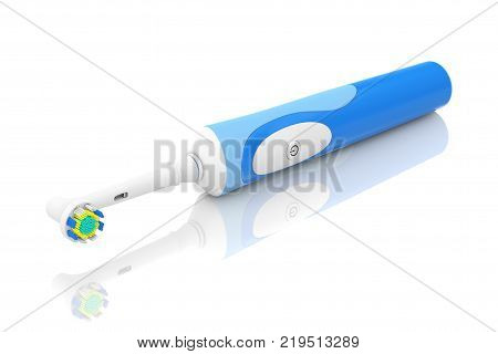 New Electric Toothbrush on a white background. 3d Rendering