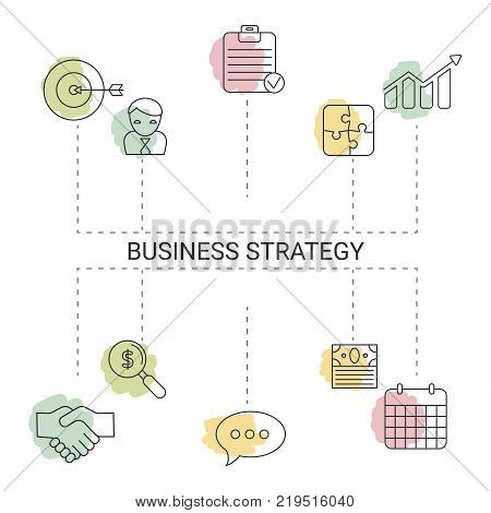 Presentation business infographic template. Isolated vector illustration.