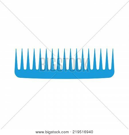 Comb hair vector icon isolated illustration style brush. Barber female salon care beauty hairdresser hairbrush
