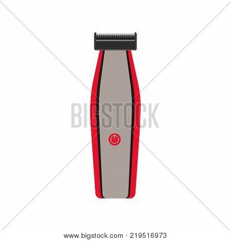 Hair clipper icon vector illustration trimmer barber electric beard. Body care cut shop beauty shaver hairstyle