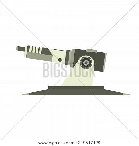 Military vector gun tank army vehicle illustration turret armored isolated. Machine war battle technology