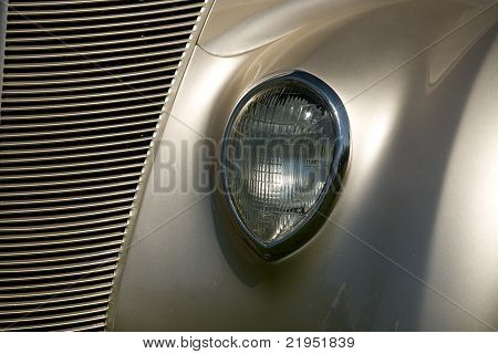 Headlight and grill