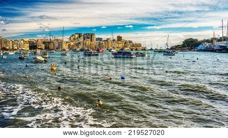 Malta: harbor of Sliema Creek in the morning