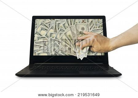 Get Money From Online Business Holding Us Dollar In Hand.