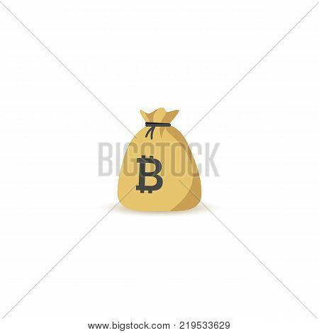 Bitcoin Bag Illustration