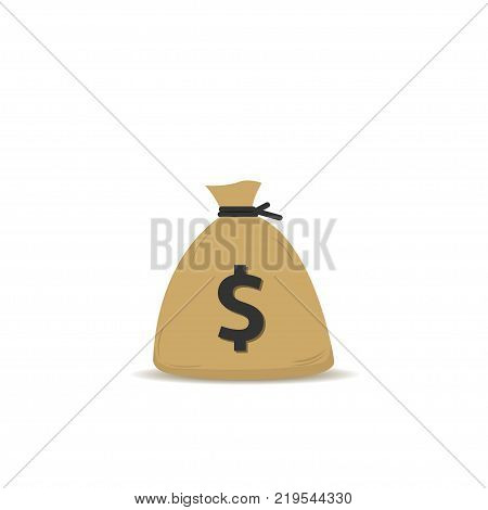 Money bag with dollar sign. Sack with cash