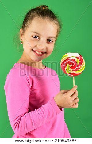 Girl Smile With Bunny Ears Headband On Long Hair