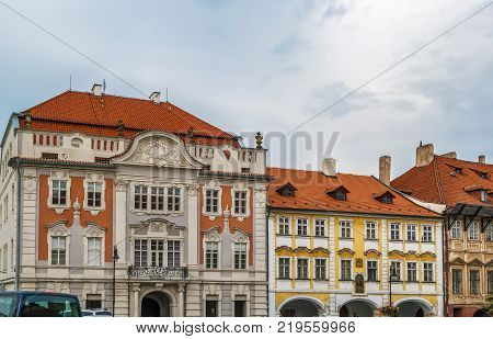 Street in Prague in Hradcany district Czech republic