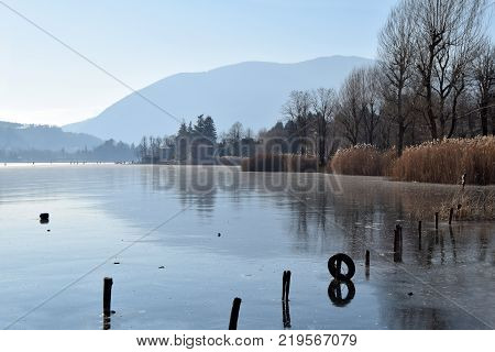 An entire lake completely frozen - Lake Endine - Bergamo - Lombardy - Italy 008