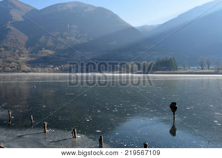 An entire lake completely frozen - Lake Endine - Bergamo - Lombardy - Italy 009
