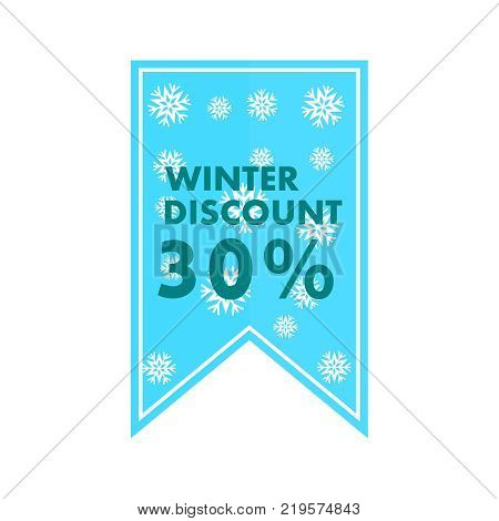 Banner for the store. Winter discounts of 30 in the vector. EPS