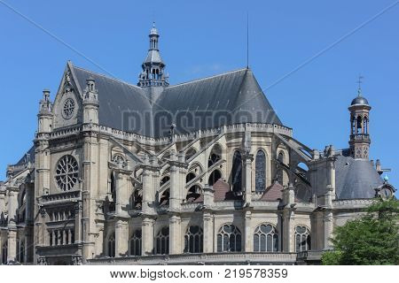 the ancient Catholic cathedral. Paris, France