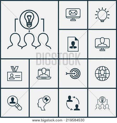 Corporate icons set with great glimpse, open vacancy, arrow and other open vacancy elements. Isolated vector illustration corporate icons.