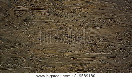 Beautiful decorative taupe background. Creative surface texture with art pattern. Grunge Wallpaper with wood flakeboard. Wide screen horizontal background With Copy Space for Design